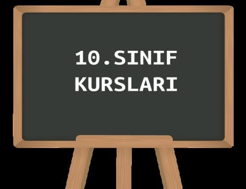 10.Sınıf Okula Takviye ve Özel Ders